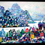 Oil colour | White Village