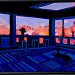 Oil colour   Spring room
