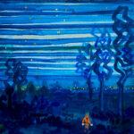 Oil colour   Night walker