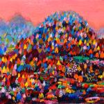 oil colour   Autumn mountain