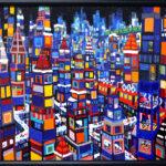 oil colour   winter city
