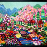 oil colour   Flower garden