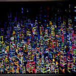 oil colour   neon city