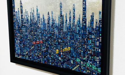 油彩画 | 青のまち