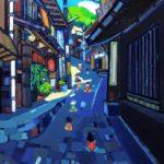 油彩画 | 温泉のまち