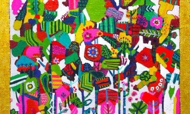 油彩画 | フラワージャングル