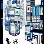 油彩画 | City walker