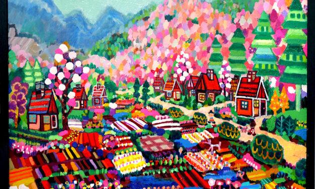 油彩画 | 花畑のいえ