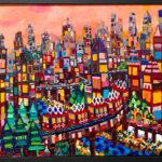 油彩画 | evning city