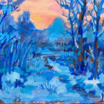 Oil colour | Winter Landscape