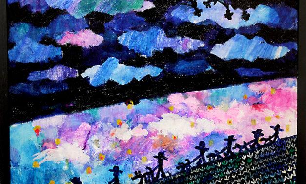 油彩画 | night walker