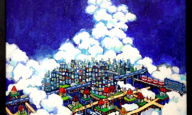 油彩画 | SKY CITY