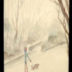 水彩画 | 冬の散歩道
