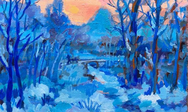 油彩画 | Winter LANDSCAPE