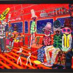 油彩画 | orange train