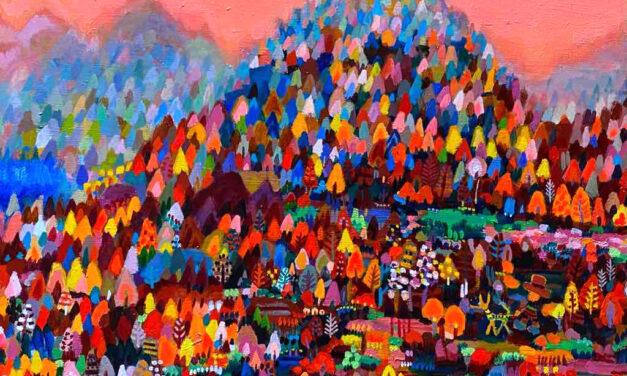 油彩画 | 秋のやま