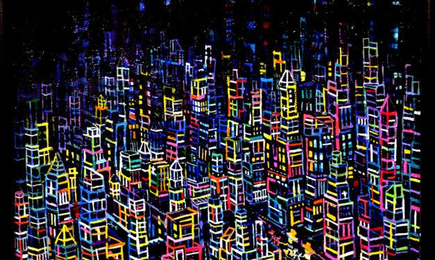 油彩画   neon city